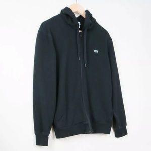 Lacoste black terry hoodie jacket 5